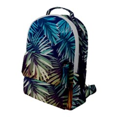 Tropic Leaves Flap Pocket Backpack (large) by goljakoff