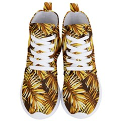 Golden Leaves Women s Lightweight High Top Sneakers by goljakoff