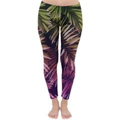 Purple Leaves Classic Winter Leggings by goljakoff