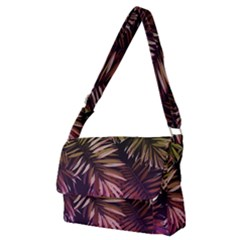 Purple Leaves Full Print Messenger Bag (m) by goljakoff