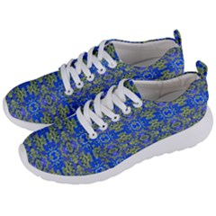 Gold And Blue Fancy Ornate Pattern Men s Lightweight Sports Shoes by dflcprintsclothing
