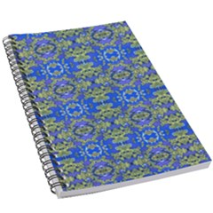 Gold And Blue Fancy Ornate Pattern 5 5  X 8 5  Notebook by dflcprintsclothing