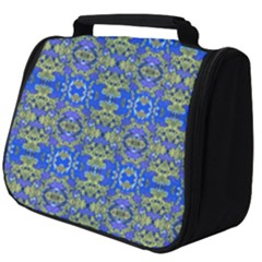 Gold And Blue Fancy Ornate Pattern Full Print Travel Pouch (big) by dflcprintsclothing