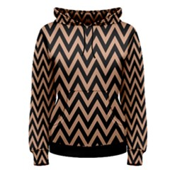 Chevron Style Collection - Antique Brass Brown & Black Women s Pullover Hoodie