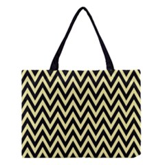 Chevron Style Collection - Banana Yellow & Black Medium Tote Bag