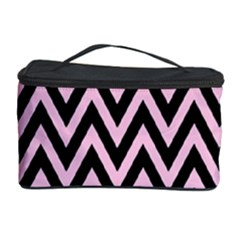 Chevron Style Collection - Blush Pink & Black Cosmetic Storage by FEMCreations