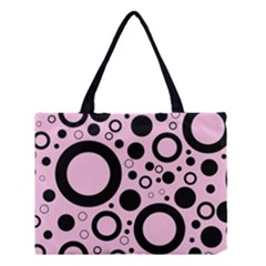 Circle Party Collection - Blush Pink & Black Medium Tote Bag