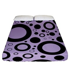Circle Party Collection - Crocus Petal Purple & Black Fitted Sheet (california King Size)