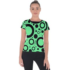 Circle Party Collection - Dragon Green & Black Short Sleeve Sports Top