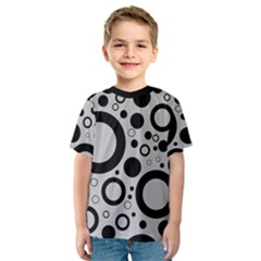 Circle Party Collection - Silver Sand Grey & Black Kids  Sport Mesh Tee