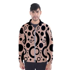 Circle Party Collection - Soft Apricot Orange & Black Men s Windbreaker