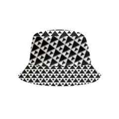 Black And White Triangles Pattern, Geometric Bucket Hat (kids)