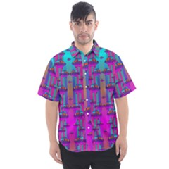 Tropical Rainbow Fishes  In Meadows Of Seagrass Men s Short Sleeve Shirt