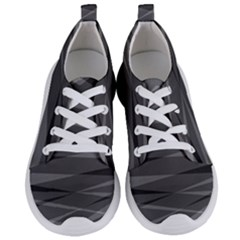 Abstract Geometric Pattern, Silver, Grey And Black Colors Women s Lightweight Sports Shoes