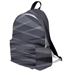Abstract Geometric Pattern, Silver, Grey And Black Colors The Plain Backpack