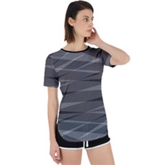Abstract Geometric Pattern, Silver, Grey And Black Colors Perpetual Short Sleeve T-shirt