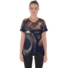 Creative Undercover Selfie Cut Out Side Drop Tee