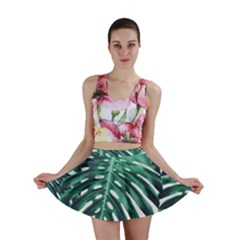 Green Monstera Leaf Mini Skirt