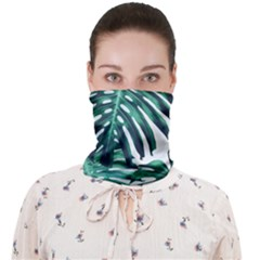 Green Monstera Leaf Face Covering Bandana (adult)