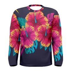 Neon Flowers Men s Long Sleeve Tee