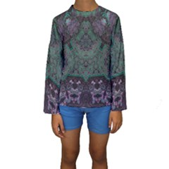 Mandala Corset Kids  Long Sleeve Swimwear