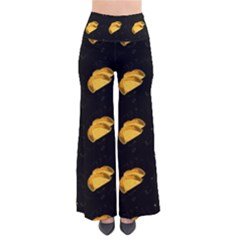 Taco Pattern On Black So Vintage Palazzo Pants by Lotus