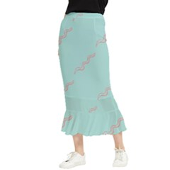 Snakes On Blue Maxi Fishtail Chiffon Skirt by Lotus