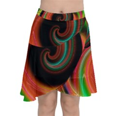 Neon Whirl Chiffon Wrap Front Skirt by Lotus