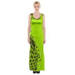 Wave Thigh Split Maxi Dress
