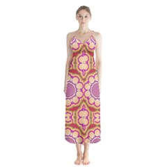 Roundel Button Up Chiffon Maxi Dress