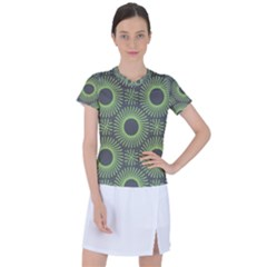 Green Spiky Rings Women s Sports Top by Lotus