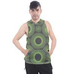 Green Spiky Rings Men s Sleeveless Hoodie