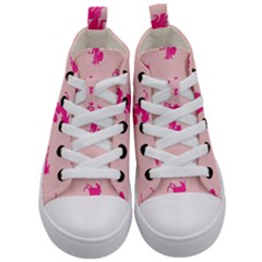 Pink Unicorn Kids  Mid-top Canvas Sneakers