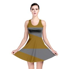 Orange And Gray Saw Reversible Skater Dress