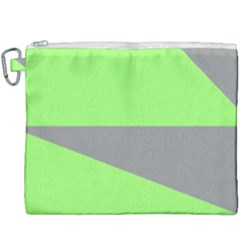 Green And Gray Saw Canvas Cosmetic Bag (xxxl)