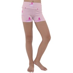 Pink Fairies Kids  Lightweight Velour Yoga Shorts