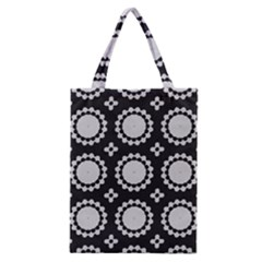 Gray Flowers Classic Tote Bag