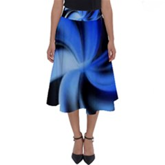 Blue Spin Perfect Length Midi Skirt by Lotus