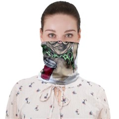 Pug Lover Coffee Face Covering Bandana (adult)