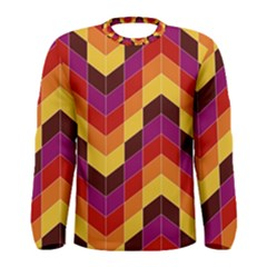 Geometric  Men s Long Sleeve Tee