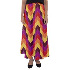 Geometric  Flared Maxi Skirt