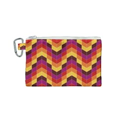 Geometric  Canvas Cosmetic Bag (small)