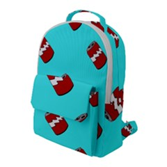 Soda Cans On Blue Flap Pocket Backpack (large) by Lotus