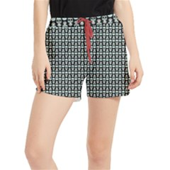Skull Pattern Runner Shorts