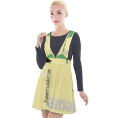 Jamaica, Jamaica  Plunge Pinafore Velour Dress by Janetaudreywilson