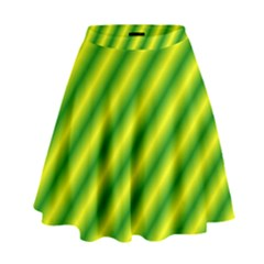 Green Diagonal Lines High Waist Skirt by Lotus