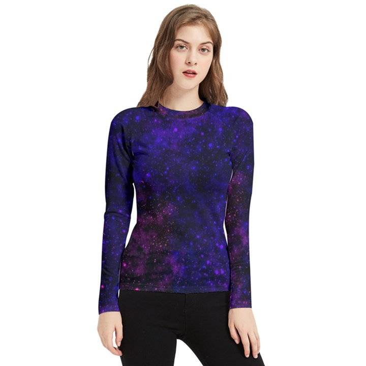 Blue,pink,red and purple Galaxy Women s Long Sleeve Rash Guard