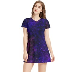 Blue,pink,red And Purple Galaxy Women s Sports Skirt
