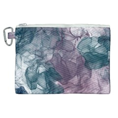 Teal And Purple Alcohol Ink Canvas Cosmetic Bag (xl)