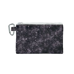 Pink Gray Galaxy Canvas Cosmetic Bag (small)